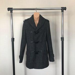 ASOS Wool Blend Gray Coat Women's Size XS